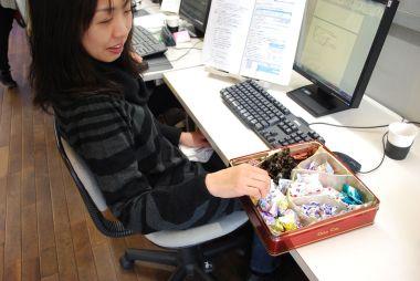 ことしもいっぱいキャンディーもらった