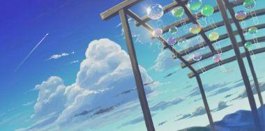 積乱雲とガラスの風鈴